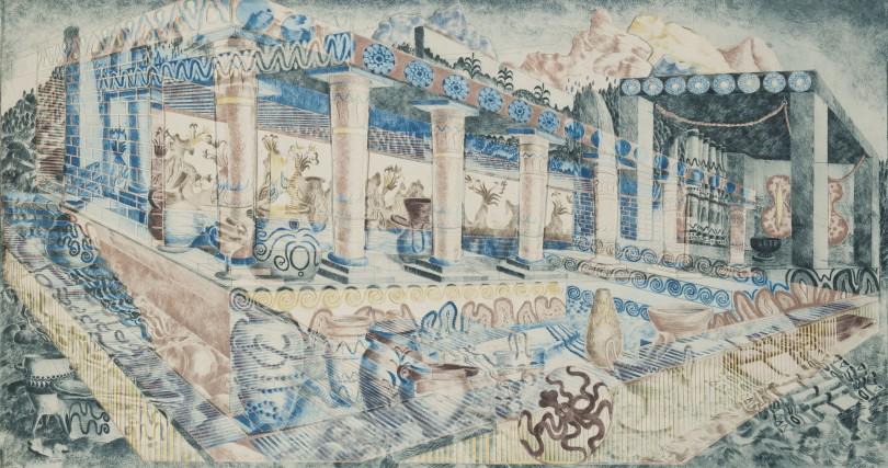 ELLISIF HALS, MINO 5, collage av torrnålstryck, 58 x 100 cm