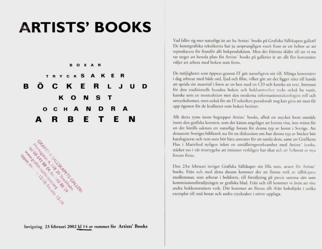 GS artists books 2002