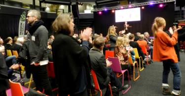 Publik vid invigningen